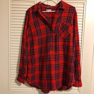 NEW Merona flannel tunic